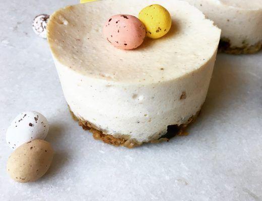 Pasen vanille cheesecakes