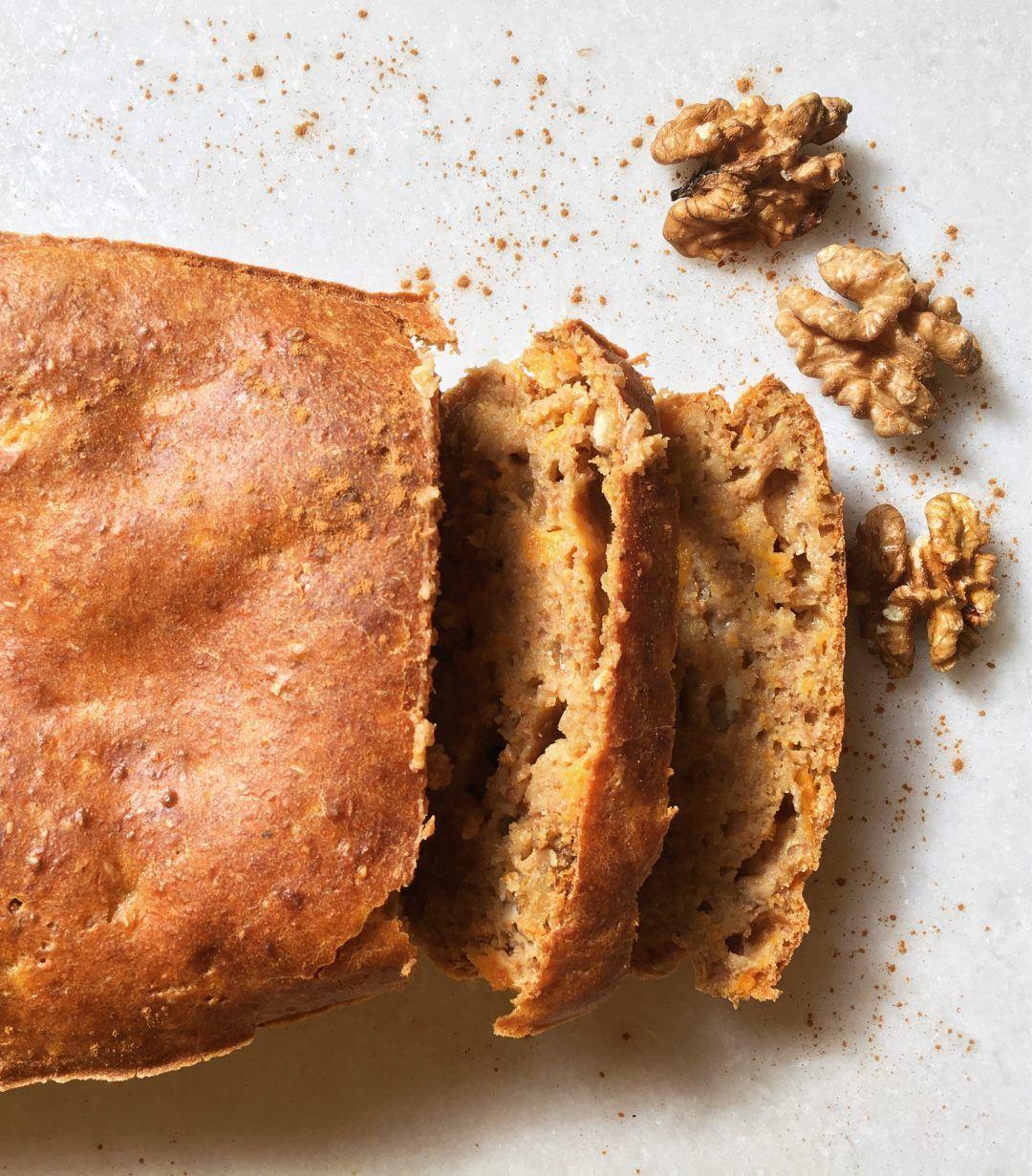Zoete aardappel cake